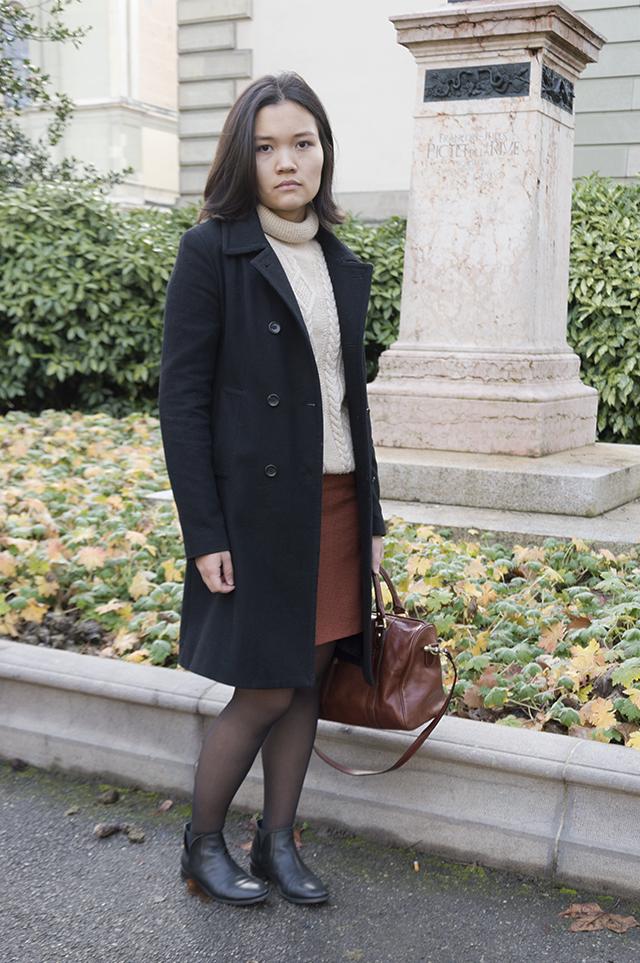 Claire in the Parc des Bastions, Geneva