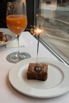 Birthday meal at the Hiltl: Brownie