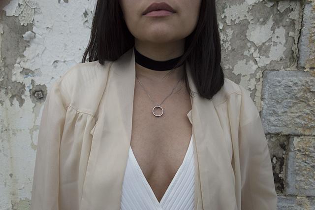 Details: Zara bodysuit; vintage blouse; Twirly Trinkets velvet choker