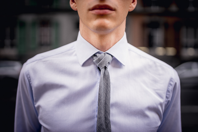 Detail: The Rosebud Knot with a COS tie