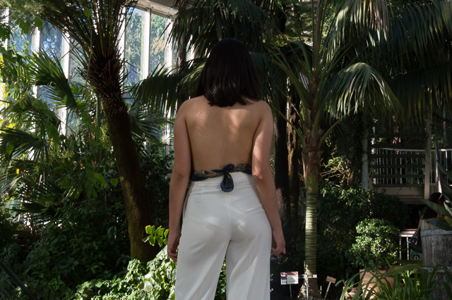 Detail of the nude back top