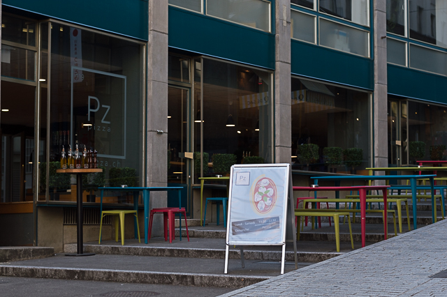 Exterior of Pz Pizza restaurant in Lausanne