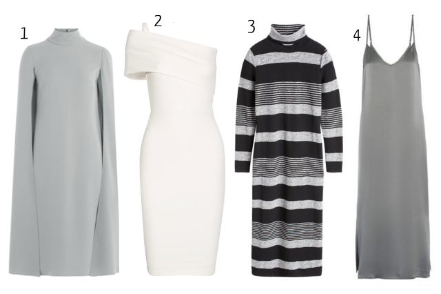 Claire's selection of minimal dresses for the festive season 2016