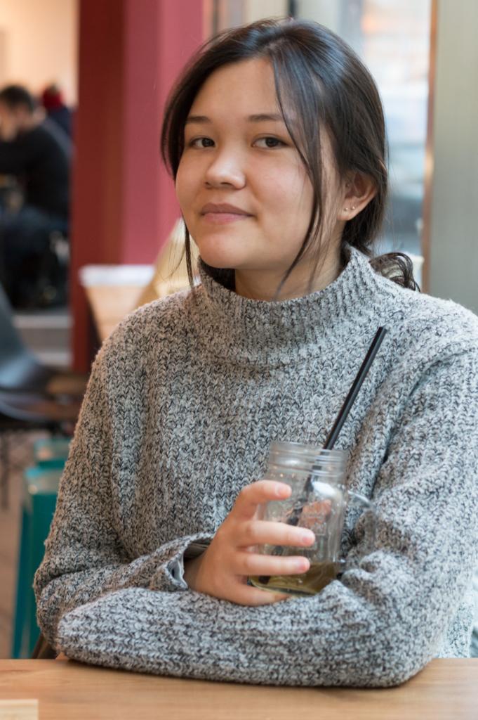 Portrait of Claire at the Végé Café