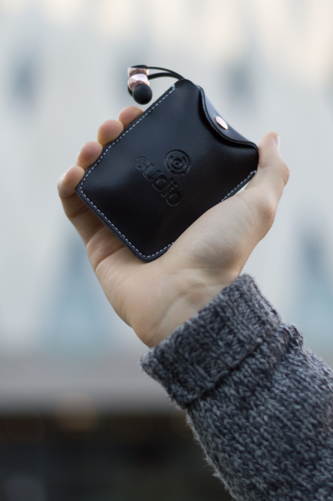 Details: Sudio Sweden leather pocket in Black