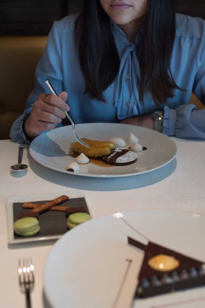 Dessert time at Le Berceau des Sens in Lausanne