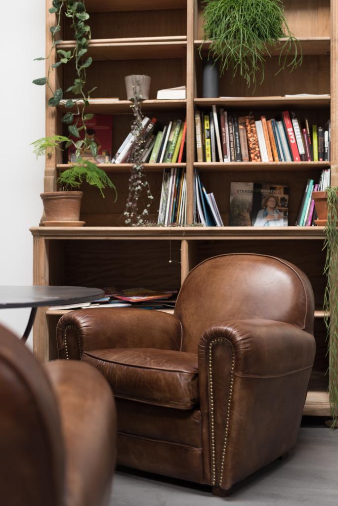 Bookshelf at Café Ex Machina
