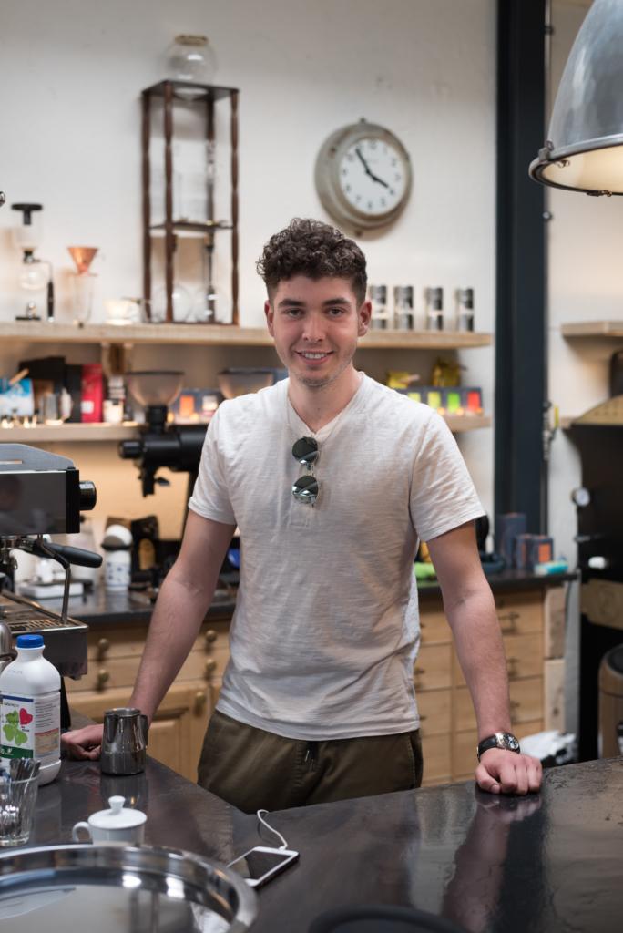 Denis Narciso, barista at Café Ex Machina in Nyon, Switzerland