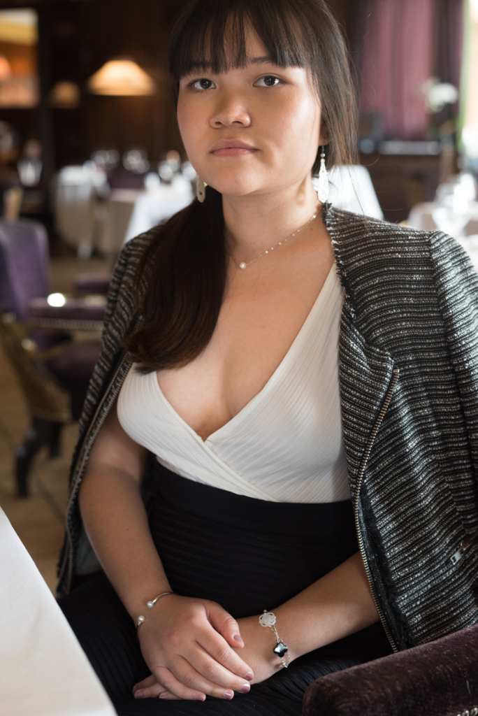 Claire Ketterer at Le Loti at La Réserve wearing SeaMe jewellery