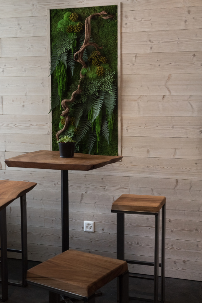Interior design at Green Gorilla Café