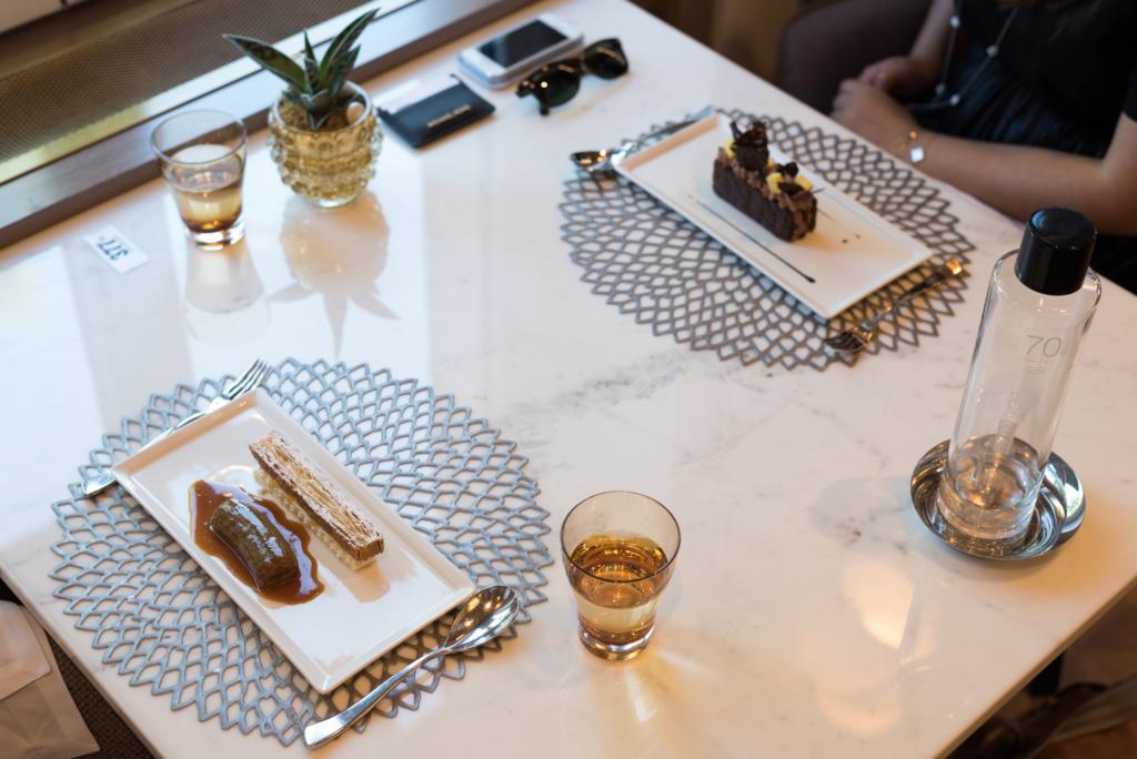 Desserts at the Living Room at Hôtel de la Paix