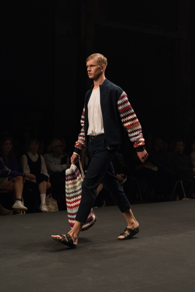 Adrian Reber collection during the catwalk at Mode Suisse