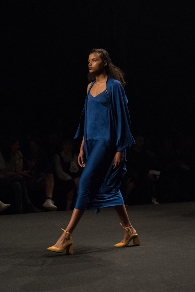Lida Noba collection during the catwalk at Mode Suisse