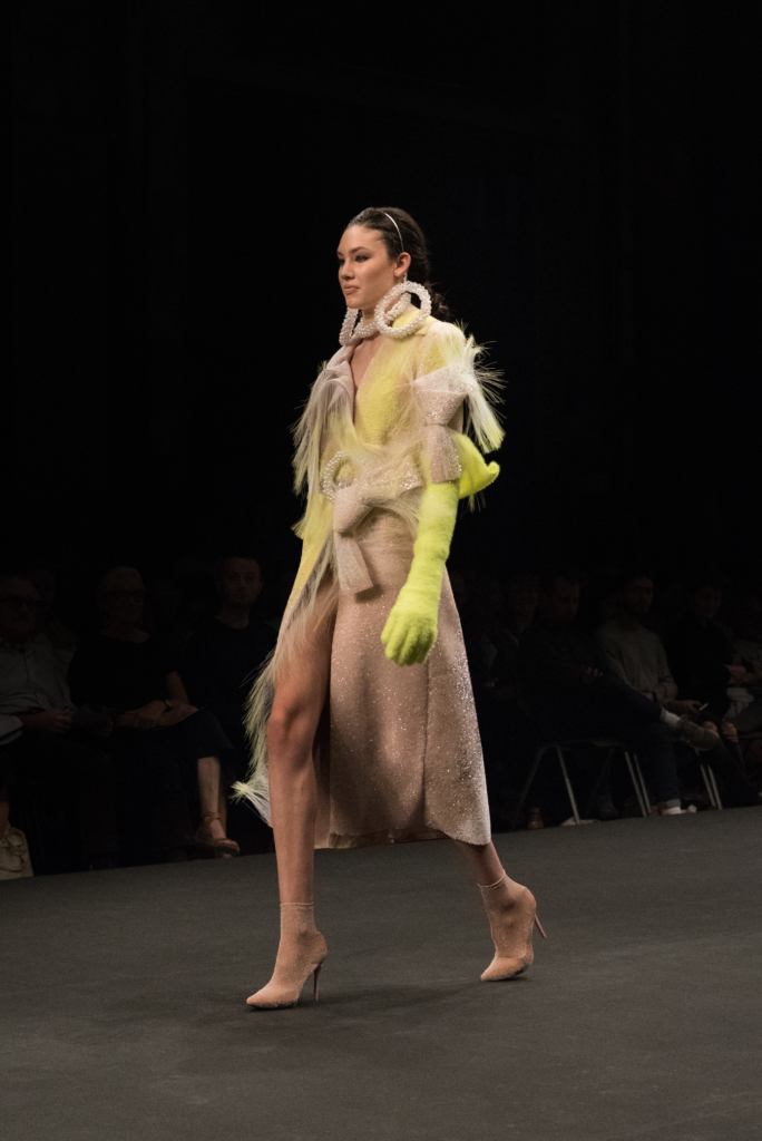 Kevin Gérmanier collection during the catwalk at Mode Suisse