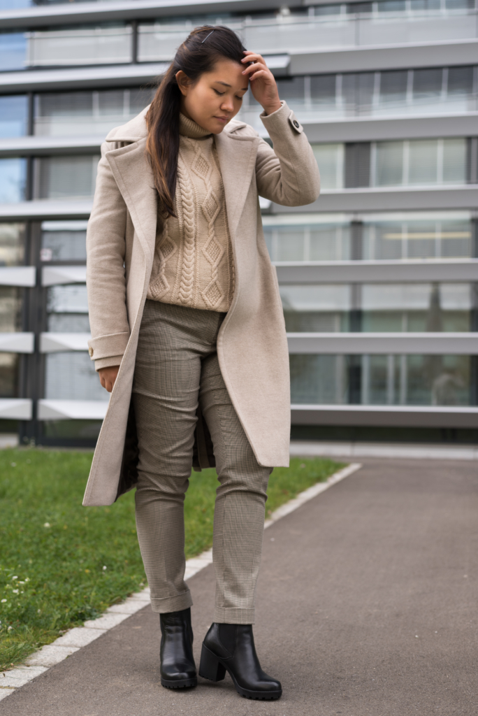 Claire Ketterer wearing neutral tones