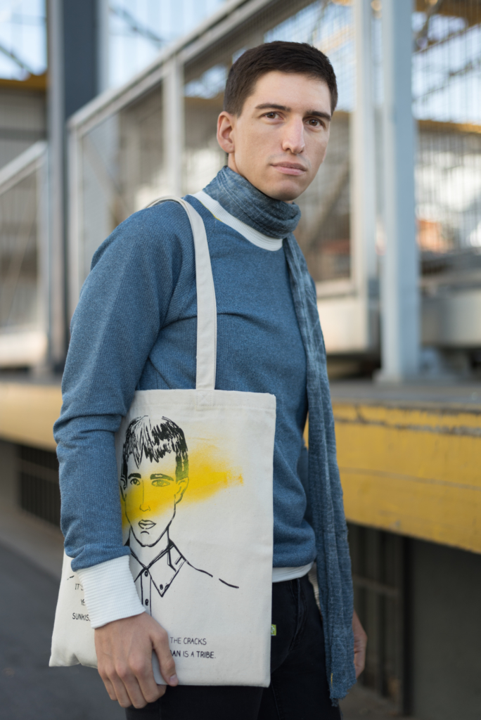 Nicolas Moser wearing UNDER/CONSTRUCTION