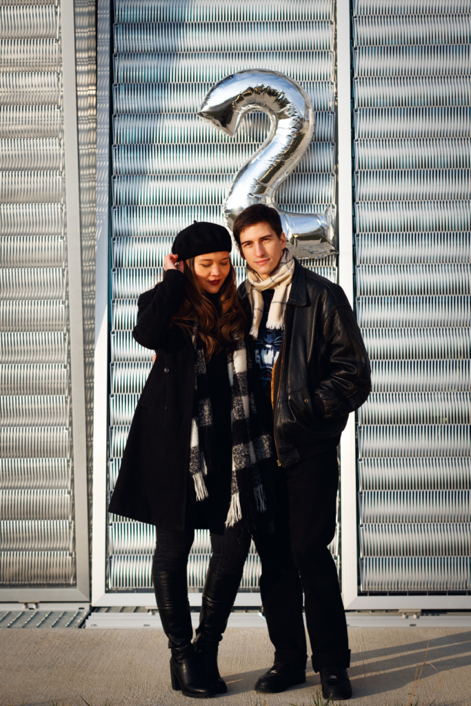 Claire Ketterer & Nicolas Moser posing for the 2nd anniversary of Dresscape