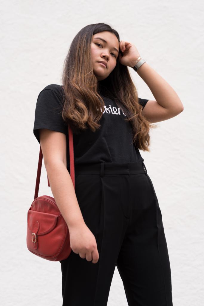 """Claire Ketterer wearing Maison Kitsuné's """"Parisienne"""""""