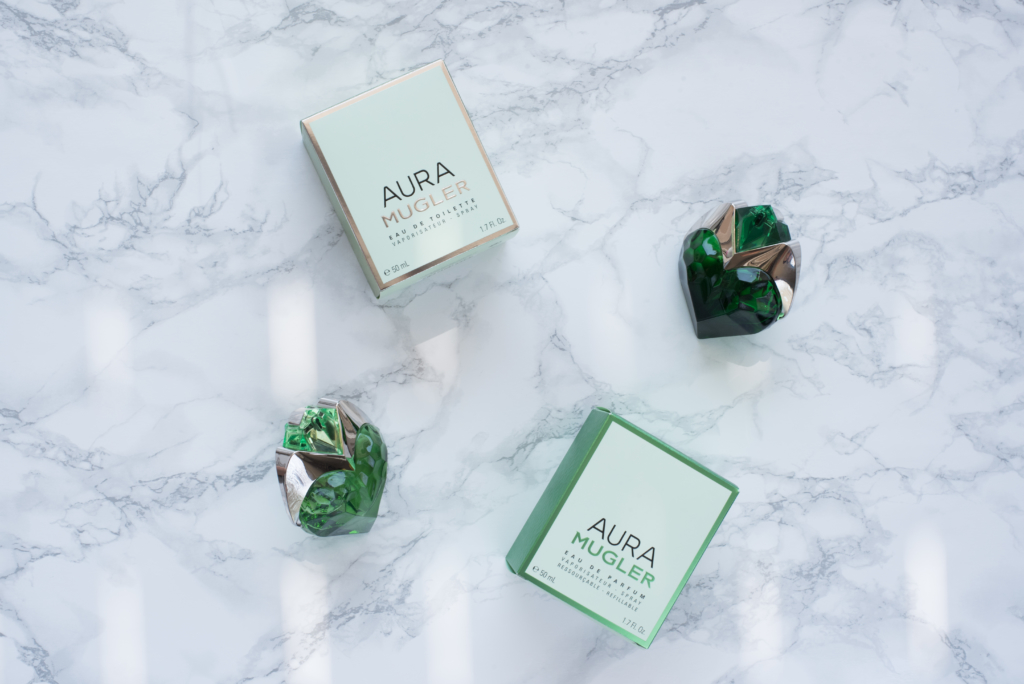 Comparison between the new Aura Eau de toilette and Aura Eau de parfum