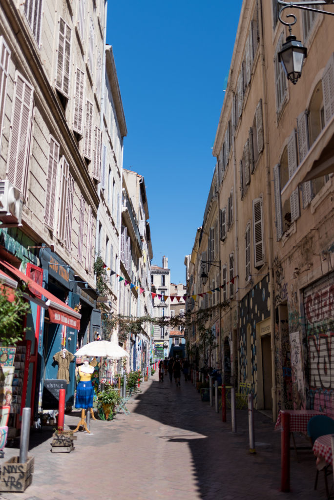 A colourful street near Cours Julien