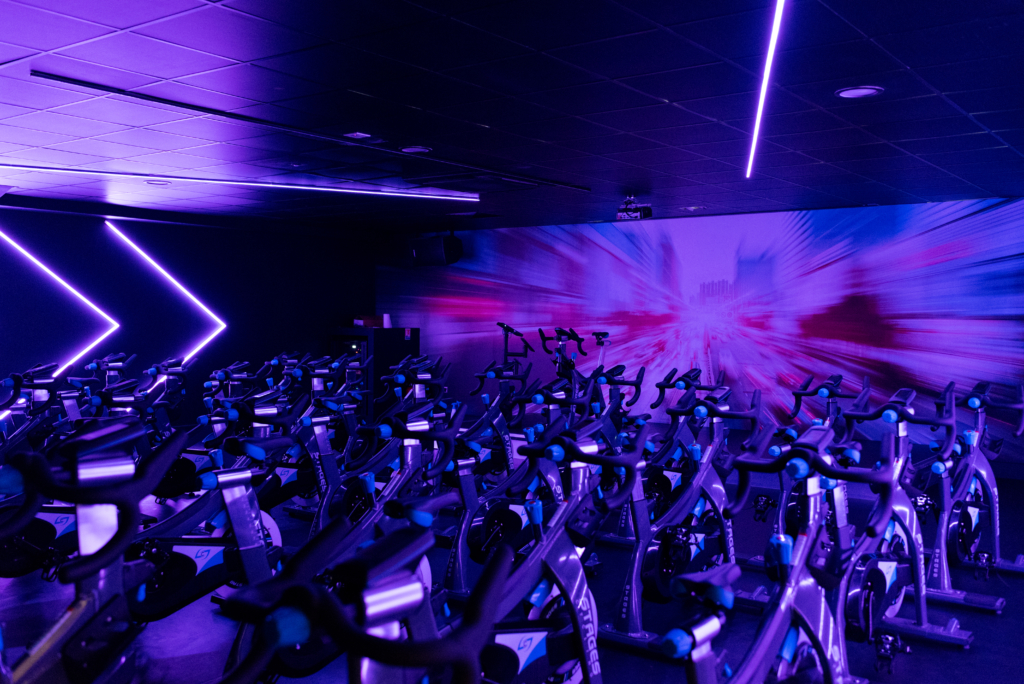 Fitness bicycles coming from outer space