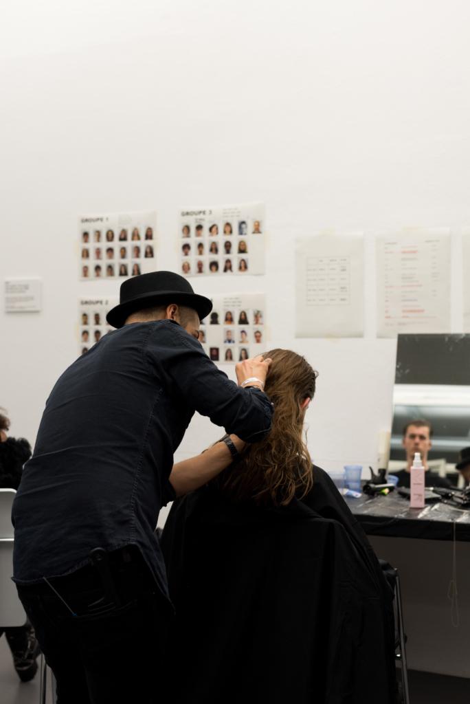 Le Bal des Créateurs preparing models for the HEAD 2018 fashion show