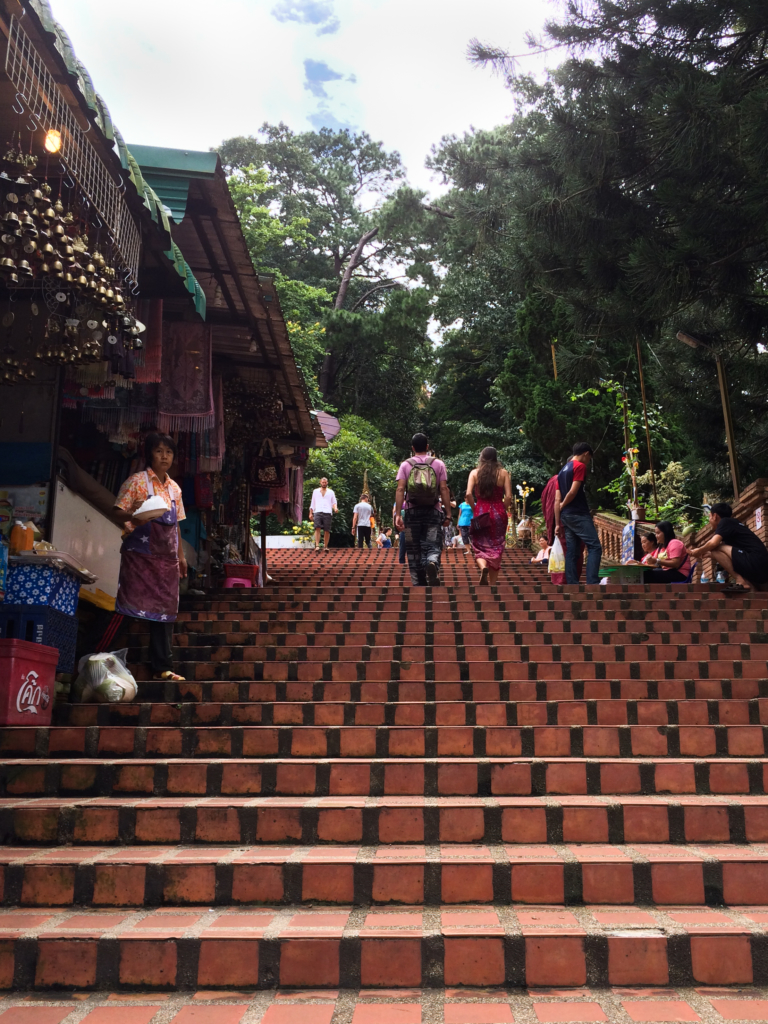 A part of the 309 steps to reach the temple situated on Doi Suthep
