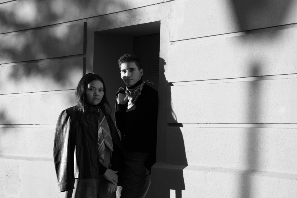 Claire Ketterer & Nicolas Moser wearing Hermès