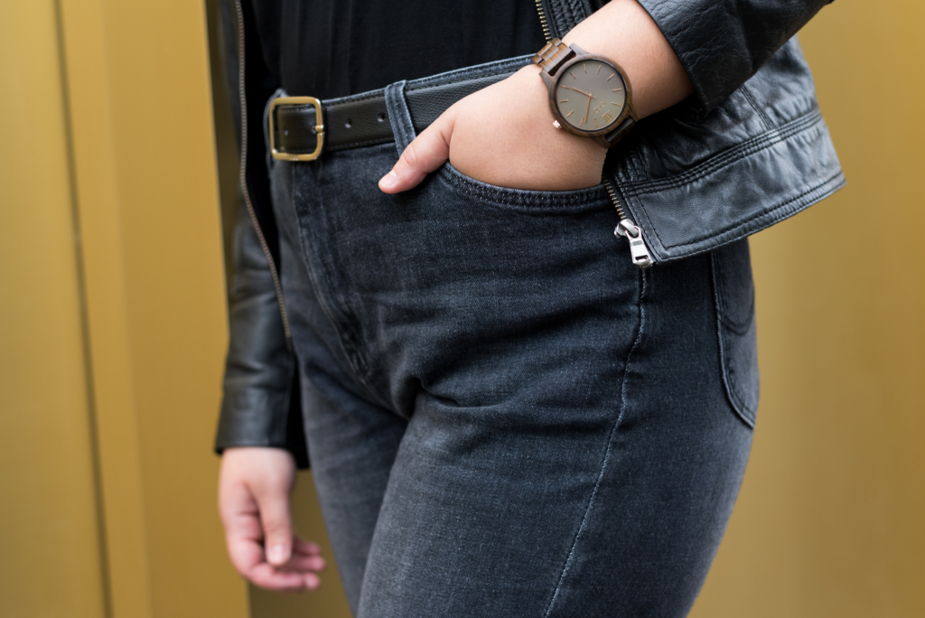Claire Ketterer wearing a Jord watch