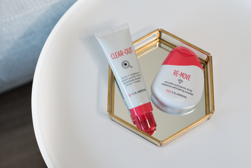 The new Clear Out and Re-Move products in the youth My Clarins range.