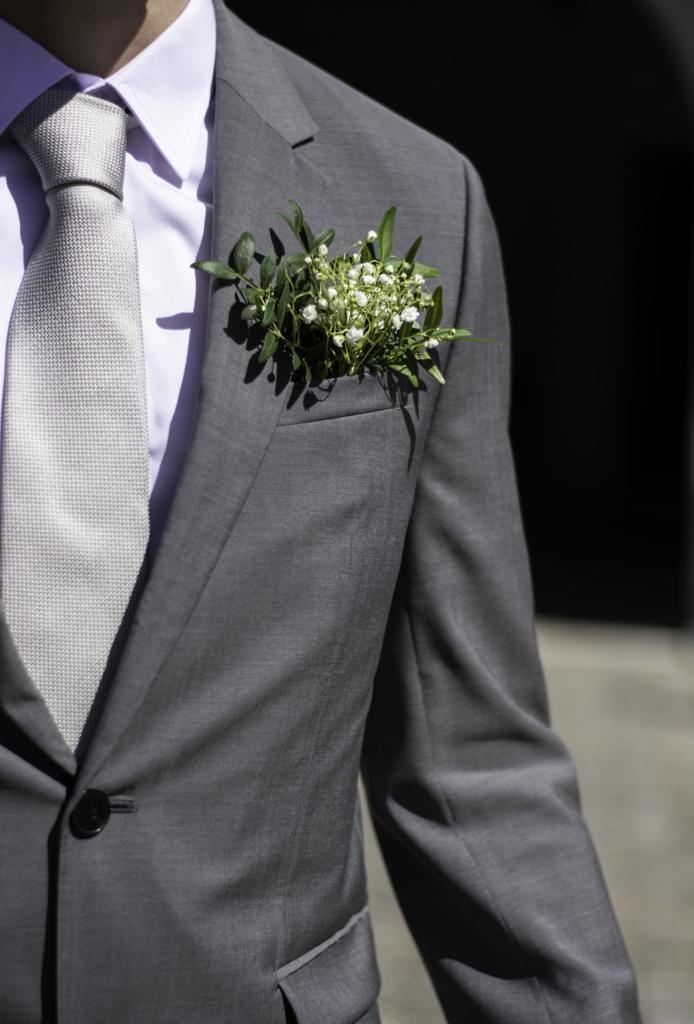 Nicolas's floral buttonhole
