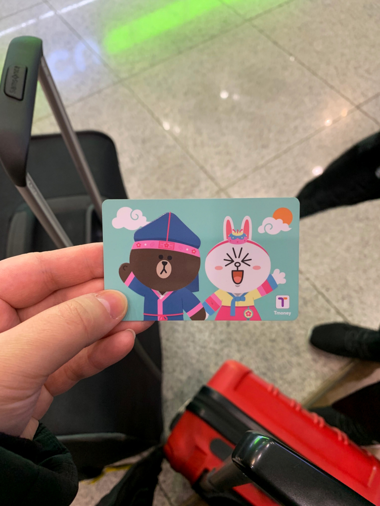 T-Card featuring Line Friends characters
