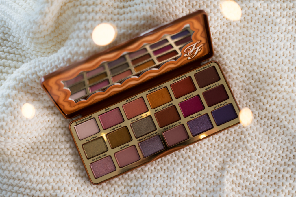 "Too Faced ""Pumpkin Spice"" Eyeshadow Palette for Christmas 2020"