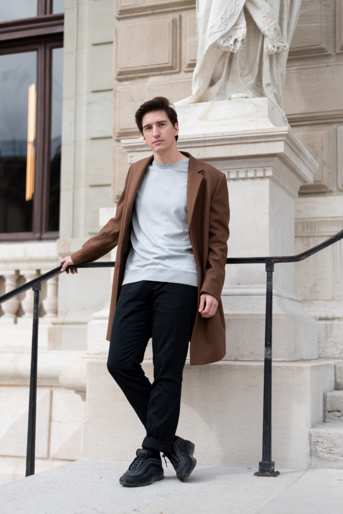Nicolas Moser wearing luxury fashion & sports brand Emyun