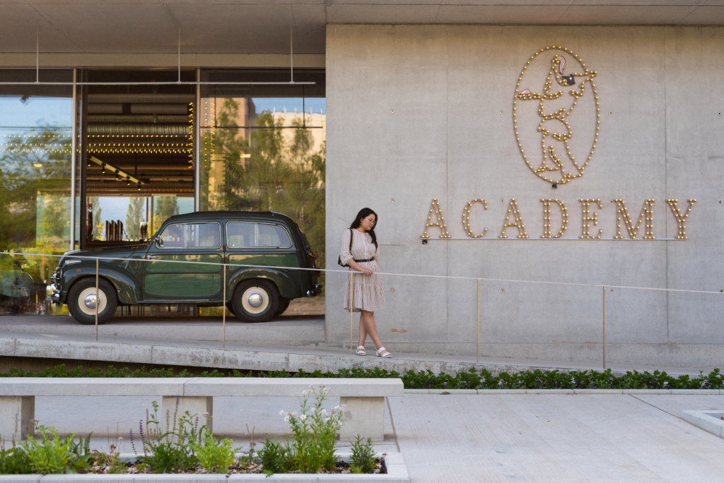 Entrance of Luigia Academy in Meyrin